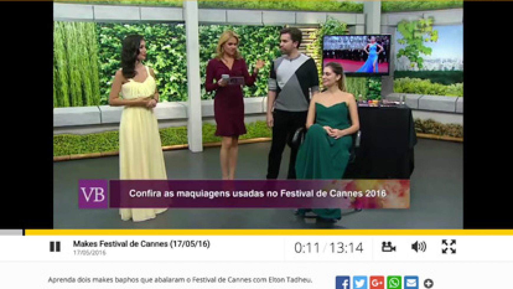 Makes Festivas de Cannes (17/05/2016)